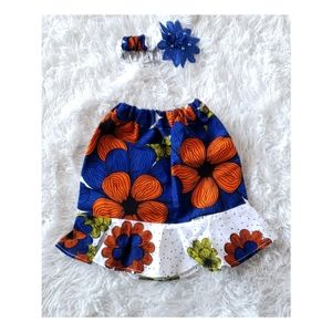 New African Print Toddler Girls Set